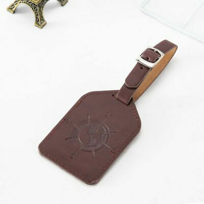 Leather Luggage Tag Travel Suitcase Bag ID Tag Address Label Baggage Card Holder 11