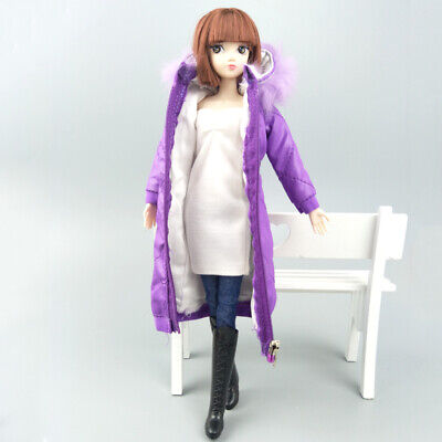 Long Coat Cotton Dress for 11.5in. Doll Clothes Parka For 1/6 BJD Doll Jacket 2
