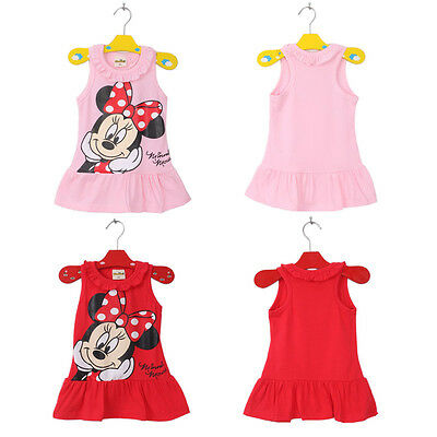 0dd3aea230f91 ... Lovely Enfants Bébé Fille Minnie Mouse Robe Soirée Gilet Jupe Tout-petit  2