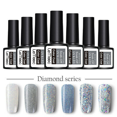 8ml LEMOOC Nagel Gellack Gel UV Nagellack Soak off Nail Art UV Gel Polish Nude 9
