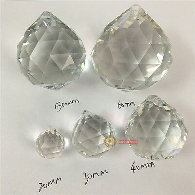 40mm Clear Feng Shui Hanging Crystal Ball Lamp Sphere Rainbow Sun Catcher New