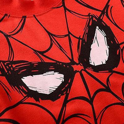 Kids Boy Spiderman T-shirt Cartoon Short Sleeve Casual Tops Summer Clothes 2-7 Y 5