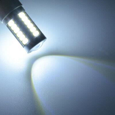 2PCS Bianco BA15D 33SMD LED 1157 Auto Coda Freno Stop Coda Lampadina Globo 12v 10