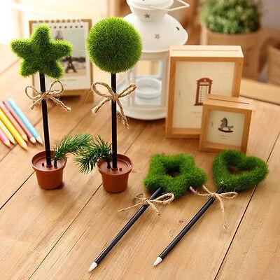 Grün Gras Blume Pot Kugelschreiber Kulis Stifte mit blauer Mine verschiedene