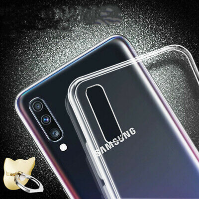 For Samsung Galaxy A70 A50 A40 Crystal Clear Slim Soft Silicone Phone Case Cover 5