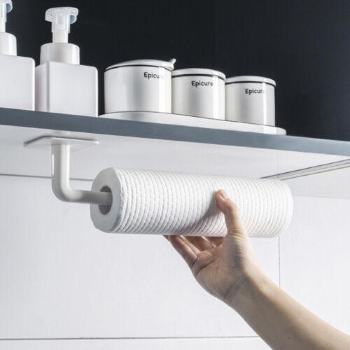 PORTE-ROULEAU DE CUISINE support de support suspendu en m/étal inoxydable Serviette en rouleau de papier sous larmoire