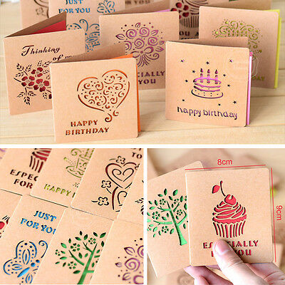 1 Of 6 Greeting Cards W Envelope Visual 3D Box Leave Message Paper Card Top Sell