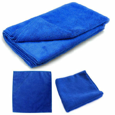 5Pcs Absorbent Microfiber Towel Car Home Kitchen Washing Clean Wash Cloth Blue 5
