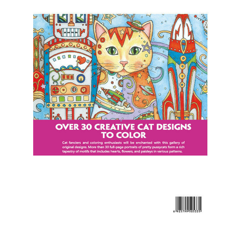Haven Creative Cats Colouring Book Adults Stress Reliever Secret Garden Gift 2