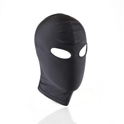 1*Senior Fetisch Harness Kopf Spiel Bondage Bound Restraint Maske Hood BDSM #CT2 2