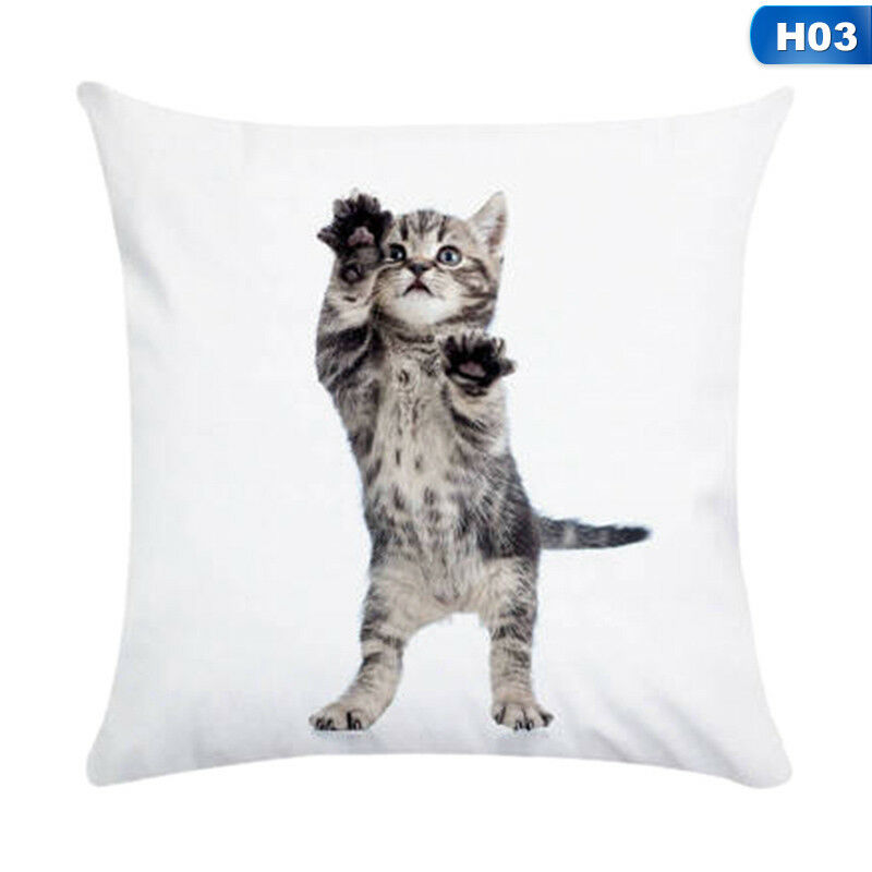 1X Animal Cute Cat Pillow Case Pet Cushion Cover For Home Pillowcase Decorations 5