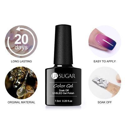 UR SUGAR Vernis UV Gel Thermique Nail Art UV Gel Polish Soak off Color Changing 2