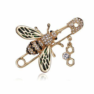 Hot Sale Rhinestone Crystal Animal Butterfly Cat Dog Brooch Pin Women Jewelly 10