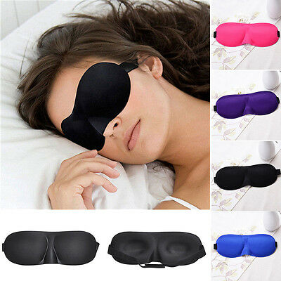 3D Mascherina per Dormire gli Occhi Benda da Notte Occhiali Mask Viaggi a Casa 6