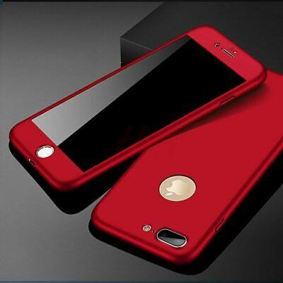 Coque 360 pour iPhone XS Max XR 6s 7 8 Plus 5 5S SE Protection Antichoc + Verre 3