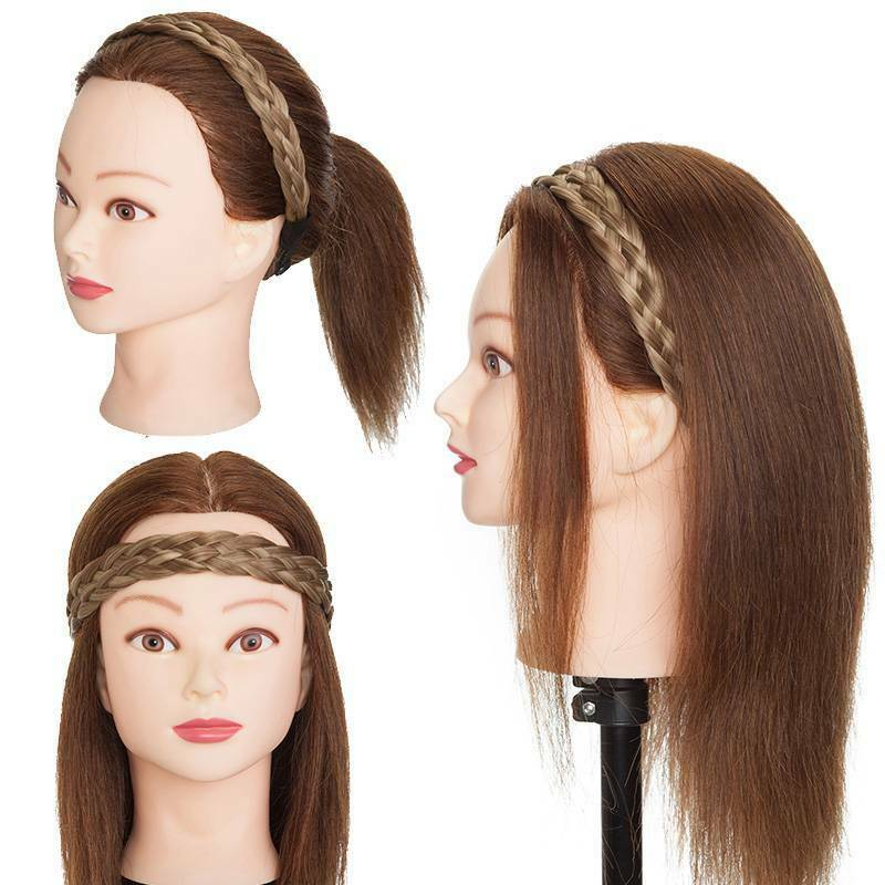 Wide Hair Plait Thick Chunky Braided Hairpiece Brown Headband Hairband 25-30cm 11