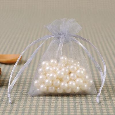 20-100Pcs Small White Organza Bags Wedding Favour Pouches Gift Candy Bag 10X15cm 12