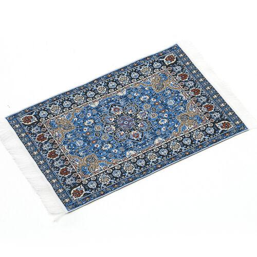 Blue Starry Night Carpet 1/12 Dollhouse Miniature Toy House Decors ornament 3