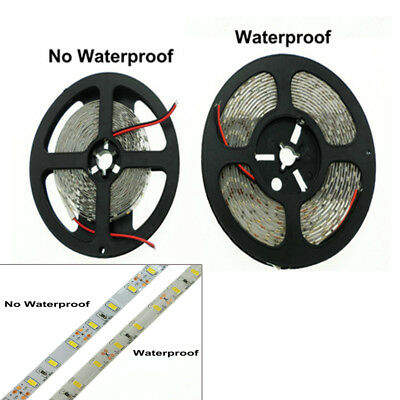 5M SMD 300 600 LED 3014 3528 5050 5630 Waterproof Flexible Strip Light 12V White 2