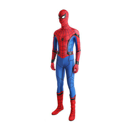 Spiderman Spider-Man:Homecoming Cosplay Costume Halloween full suit with shoes 5