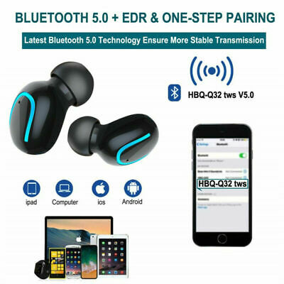 Wireless Headphones TWS Mini True Bluetooth 5.0 Stereo Earphones In-Ear Headset 8