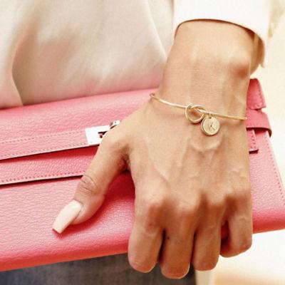 Personalized Initial Knot Bracelet Monogram Bracelet Bridesmaid Letter Bracelet 2