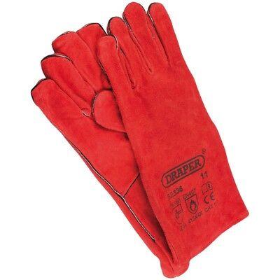 DRAPER 52336 Leather Welding Welders Fully Cotton Lined Hand Gauntlets Gloves