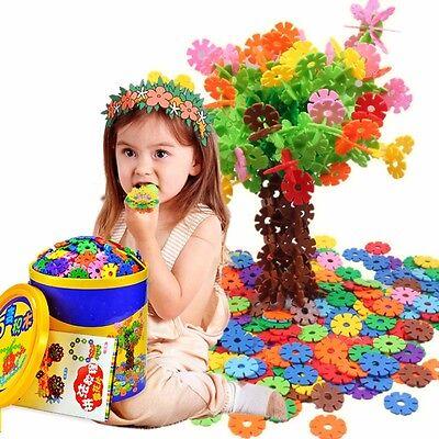 150PCS Plastic Snowflake Building Blocks Puzzle Baby Kids DIY Educational Toys