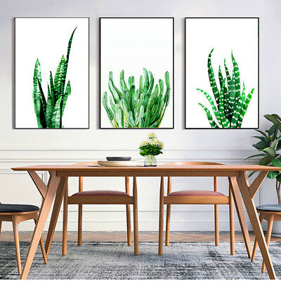 Tropical Plants Leaves Canvas Vintage Poster Wall Art Prints Modern Home Decor 3