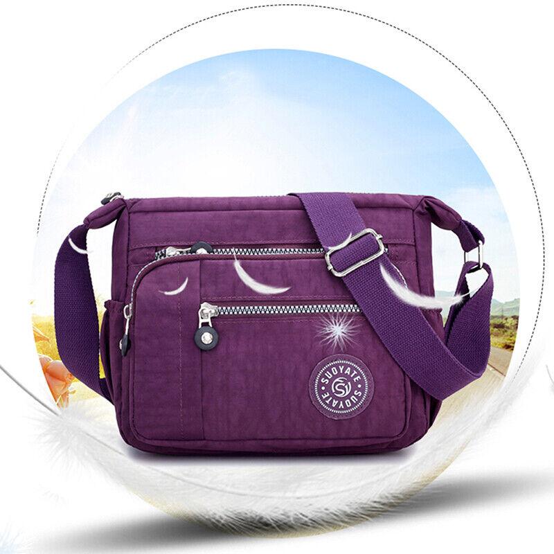 Women Canvas Handbag Pocket Shoulder Bag Travel Messenger Crossbody JJ 3