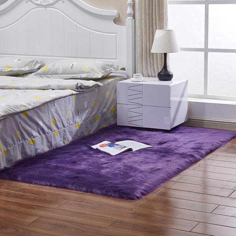 Washable Fluffy Rug Anti-Skid Shaggy Rugs Carpet Living Room Bedroom Floor Mats 12