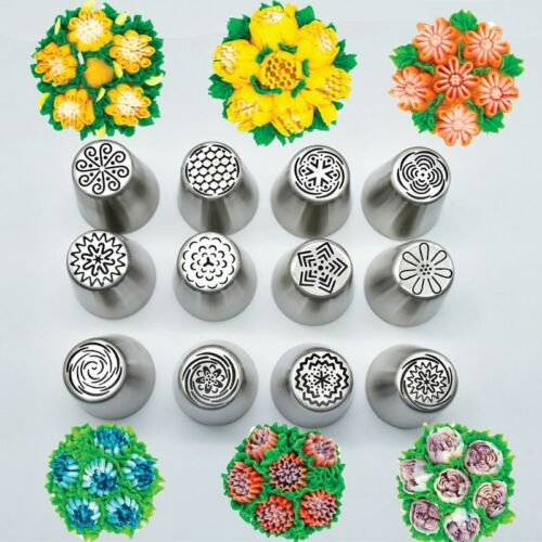 12pcs Icing Piping Nozzles Excellent Russian Tulip Cake Decor Tips Baking Tools 6