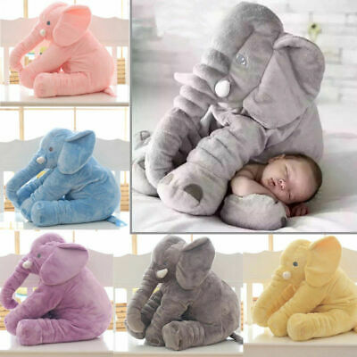 "UK 24"" Large Big Soft Plush Stuffed Elephant Animal Toys Teddy Bear Play Pillow 2"