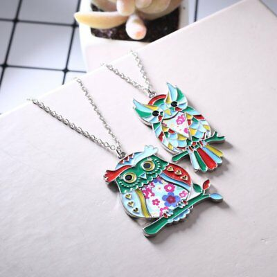 Fashion Paint Animal Dragon Butterfly Dog Cat Pendant Necklace Women Jewelry New 6