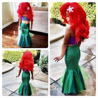 Kids Baby Girls Mermaid Costume Tulle Bikini Swimwear Swimsuit Princess Dress