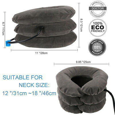 Brace Support Necksmith Cervical Inflatable Neck Traction collar Device 3 layer 4