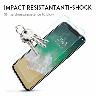 Real 9H Tempered Glass Screen Protector Film for iPhone XS Max XR X 6S 7 8 Plus 3
