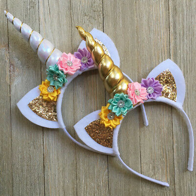 Magical Unicorn Horn Head Party Hair Headband Fancy Dress Cosplay Decorative 1PC
