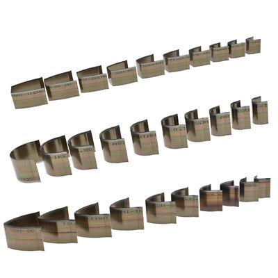 18x Leather Craft Cutter Punch Strap Belt Wallet End Tool Die Cut Hand Craft Set