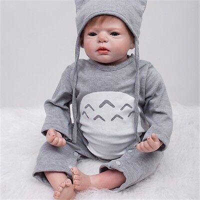22'' Lifelike Baby Silicone Vinyl Handmade Boy Girl Doll Reborn Toddler Dolls 2