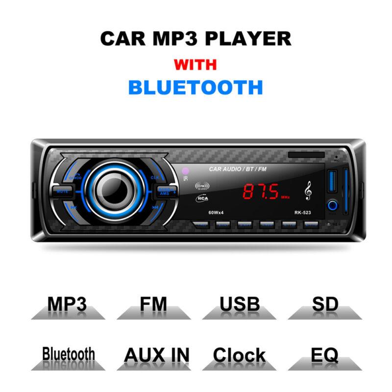 Bluetooth Car Stereo Audio In Dash Aux Input Receiver Sd: CAR STEREO Audio Bluetooth In-Dash FM Aux Input Receiver