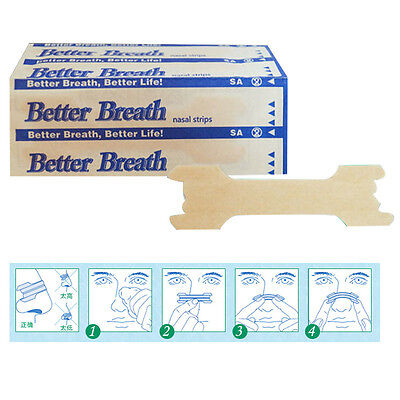 Nasal Strips - Sleep Aid - Med & Large Stop Snoring Breathe Easier UK - Free P&P