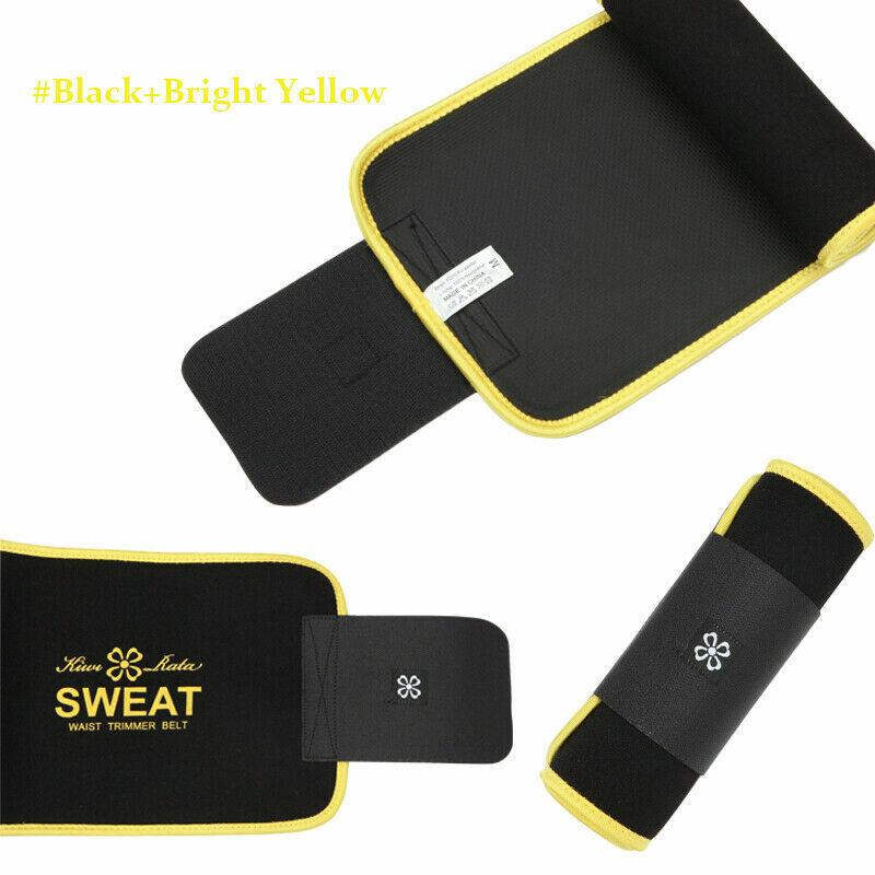 UK Men Women Waist Trimmer Belt Sweat Wrap Tummy Stomach Weight Loss Fat Burner 7