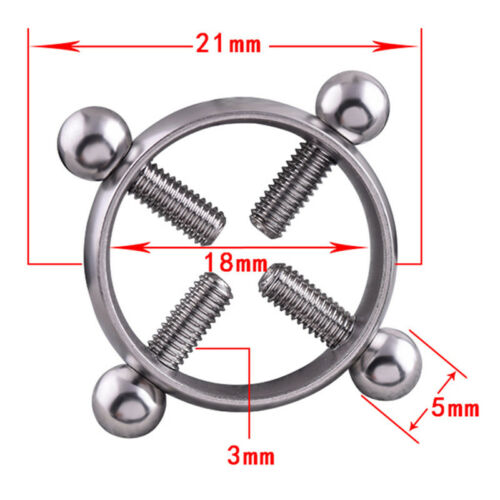 2pcs 316L Stainless Steel Hanging Man Barbell Nipple Shield Ring Body Stud TW