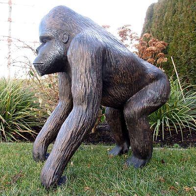 8af1153f27f ... GORILLA schwarz braun 77 cm mittel SILBERRÜCKEN Deko Garten Tier Figur  AFFE ZOO 4
