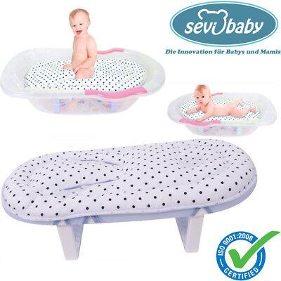 Sevibaby Weiß BLAU Baby Badeliege Aufsatz Hängematte Einlage Badewannensitz 09 2