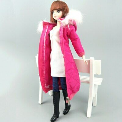 Long Coat Cotton Dress for 11.5in. Doll Clothes Parka For 1/6 BJD Doll Jacket 6