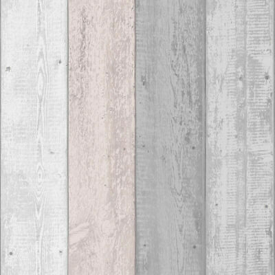 Arthouse Painted Rustic Old White Grey Pink Blush Shabby