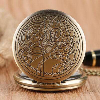 Doctor Who Quartz Pocket Watch Full Hunter Classic Style Necklace with Chain 4