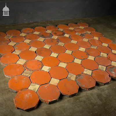 Stunning 18th C Octagonal and Square Church Floor Tiles – 7 SqMs 6